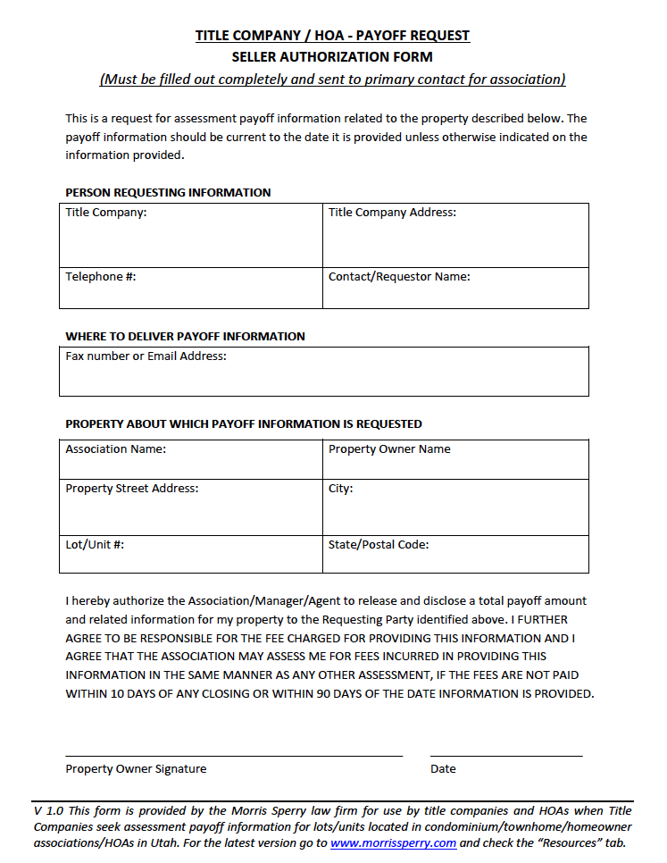 Forms – Utah Land and Title Association